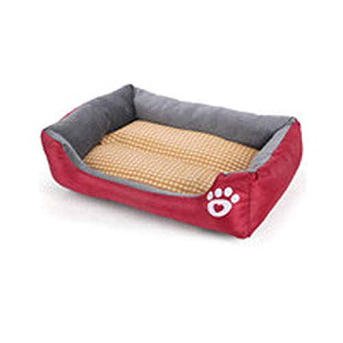 Pet Waterloo New Winter Thickening Footprints Candy Color Square Dog Velveteen cat mat,Red,68 X 55 for $<!--$38.26-->