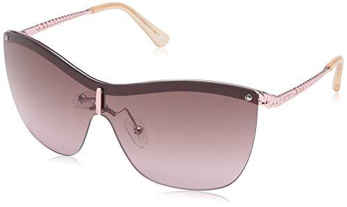 GUESS Women's Gu7471 Shield Sunglasses, shiny rose gold & violet, 00 ()