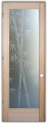 Interior Glass Door Sans Soucie Art Glass Bamboo Shoots 3D Private