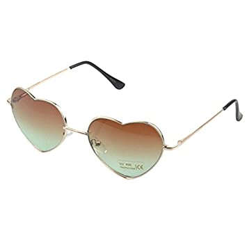 e2044479b36 Buy Generic Brown Heart Shaped Sunglasses Women Metal Reflective Mirror  Lens Fashion Luxury Sun Glasses Brand Designer For Ladies Online at Low  Prices in ...