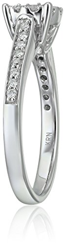 Composite Diamond in 14k White Engagement Ring (5/8cttw, H I Color, I1 I2 Clarity), Size 7