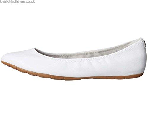 Cole Haan Womens Zerogrand Stagedoor Stud Ballet Flat Optic White SNs0bt