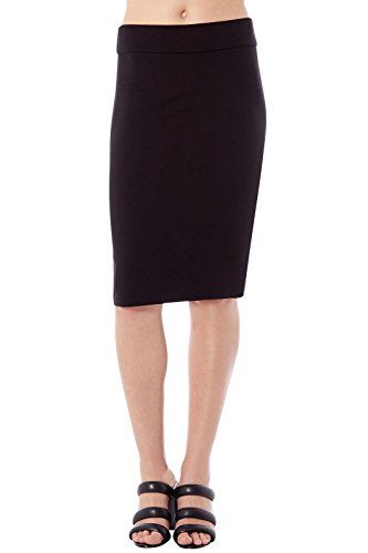 Rohb Joyce Azria Riviera Straight Pencil Tube Skirt (Black) Size S