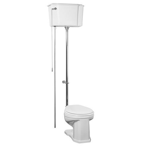 delicate Barclay 2-413WC Victoria Vitreous China Round Front Adjustable High Tank Toilet