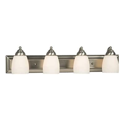 "Galaxy Lighting 724134BN 4 Light Barclay Bathroom Light - Width: 30""  Projection from wall: 6.5""  Height: 6.75"" Uses four 100 watt A19 Med F incandescent light bulbs Power supply required: 120 volts - bathroom-lights, bathroom-fixtures-hardware, bathroom - 31oeXsCfObL. SS400  -"