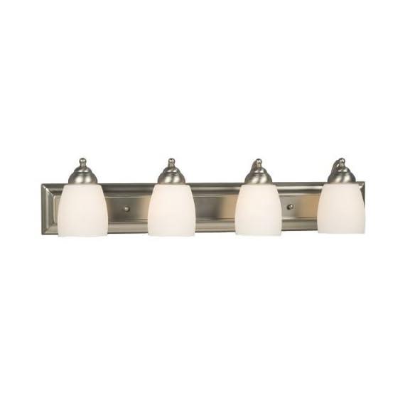 "Galaxy Lighting 724134BN 4 Light Barclay Bathroom Light - Width: 30""  Projection from wall: 6.5""  Height: 6.75"" Uses four 100 watt A19 Med F incandescent light bulbs Power supply required: 120 volts - bathroom-lights, bathroom-fixtures-hardware, bathroom - 31oeXsCfObL. SS570  -"