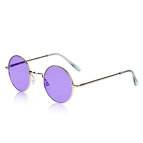 Circle Sunglasses Round Glasses Vintage Circular 70's Tinted Color Lenses ()