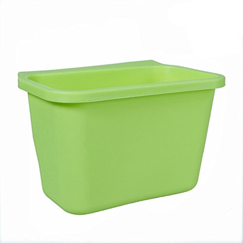 Green Color Kitchen trash can waste container ambry storage box desktop junk ()