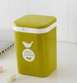 Etonnant Fashion Mini Trash Can/Countertop Trash Can/Creative With Cover Trash Bin/  Green