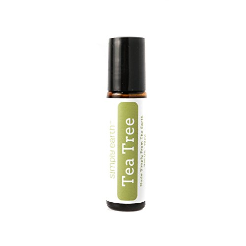 Tea Tree Essential Oil Roll-On Bottle by Simply Earth - 10ml, 100% Pure Therapeutic Grade