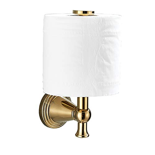 Rozin Gold Color Upright Style Toilet Paper Holder Wall Mounted