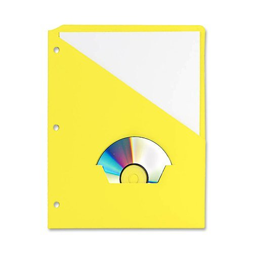 Generic Essentials Slash Pocket Project Folder, Letter Size, Yellow, 25 Per Pack