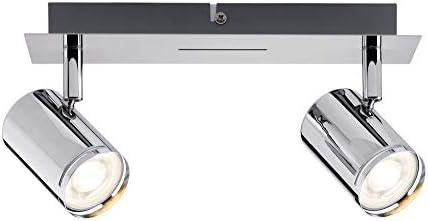 Paulmann 66679 Spotlight Rondo max 2x10W GU10 Chrom 230V Metall 666.79 Deckenleuchte Lampe LED Deckenlampe Deckenstrahler