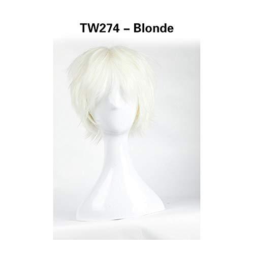 (Tuyhnm Synthetic Straight Full Short Wig Cosplay Hair Halloween Heat Resistant Women)