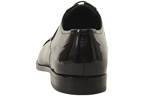 HUGO by Hugo Boss Men's Square Business Matte Leather Lace up Derby Work Shoe, Black, 11 N US by Hugo Boss (Image #3)