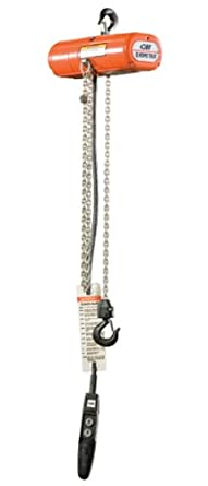 CM 2027 3-Phase Single Speed ShopStar Electric Chain Hoist, 300 lbs Capacity, 15' Lift Height, 16 fpm Lift Speed, 1/6HP, 230V/60Hz