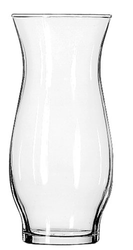 Libbey Hurricane Vase, 6-1/2-Inch, Clear, Set of 6