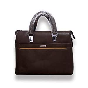 Briefcase 5096-3S for Men - PU, Brown