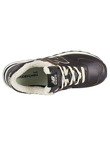 da Sneaker Nero New Marrone Alimentazione Balance Uomo 574 con E1wpqwSx5