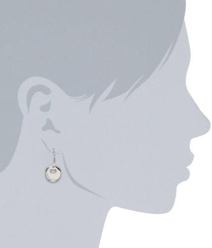 ELLE Jewelry Heart Stamped Sterling Silver Earrings