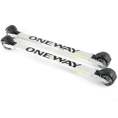 (One Way Sport Classic 5 Roller Skis Silver - Trainers)