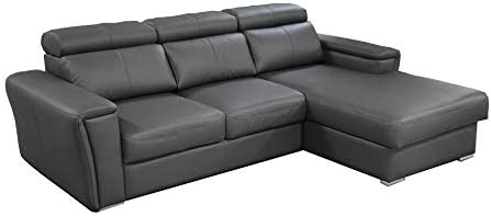 Amazon.com: Tropic Leather Sectional Sleeper Sofa, Right ...