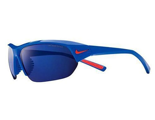 Nike Skylon Ace Team EV0891 Sunglass 480 Blue/Orange Frame Blue Lenses Size 69-10 by NIKE