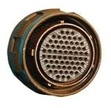 SOURIAU D38999/26FE35SN CIRCULAR CONNECTOR PLUG SIZE 17, 55POS, CABLE