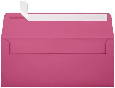 #10 Square Flap Envelopes w/Peel & Press (4 1/8 x 9 1/2) - Magenta Pink (250 Qty.) | Business | For Checks, Invoices, Letters & Mailings | Printable | 80lb Text Paper | EX4860-10-250