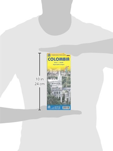 Colombia Travel Reference Map 1:1,400,000 2014