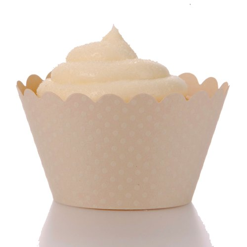 lace cupcake liners ivory - 6