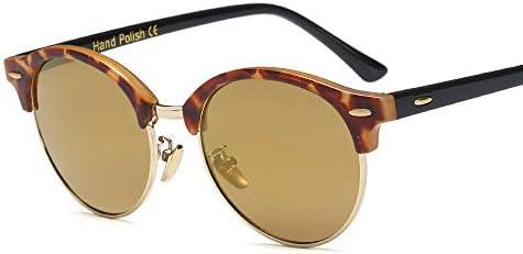LIUYALE Optische Brillen, Brillen Klar Linsen die blendfreie 100% verringern die Belastung der Augen Trend Sonnenbrille Unisex- Personality Nicht Brillen Brillenfassungen (Color : Leopard/Gold)