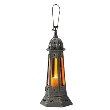 Gifts & Decor Gothic Tower Candle Holder, Bronze