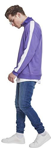 Para Shoulder Sweat Sudadera Oversize Stripe white Mehrfarbig Troyer Classics Hombre 01461 ultraviolet Urban 1awxZx