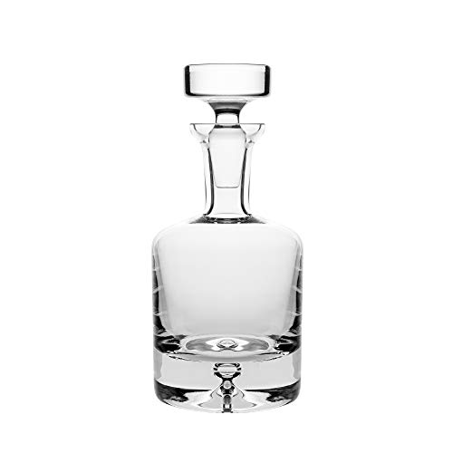 (Glass - Whiskey Decanter - 25 oz. - By Barski - European Quality - Round Decanter for Whiskey - Liquor - With Stopper - With Bubble Base - Made in Europe)