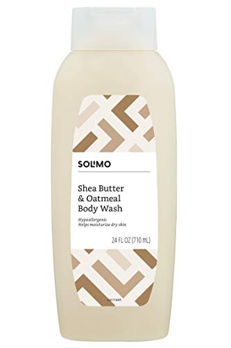 Amazon Brand - Solimo Shea Butter and Oatmeal Body Wash, 24 Fluid Ounces