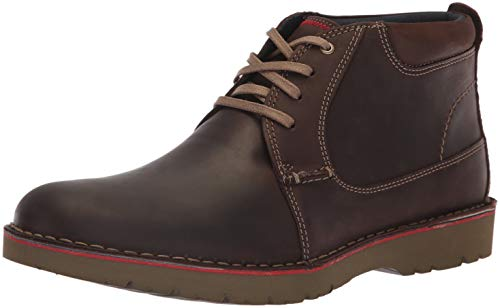 (CLARKS Men's Vargo Mid Ankle Boot, Dark Brown Leather, 090 M US )