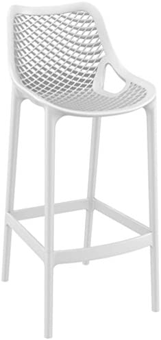 Compamia Air Outdoor UV Resistant Resin Bar Stool