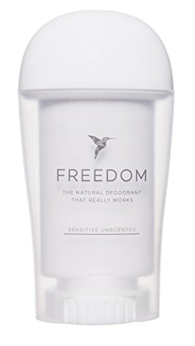 Freedom All Natural Deodorant Aluminum Free Odor Protection Tested & Loved by Cancer Survivors, Busy Execs, Military Personnel, Athletes, Healthy Moms & Kids - Sensitive Unscented 1.7 oz.