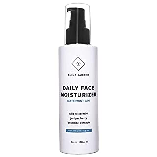 Blind Barber Daily Face Moisturizer - Daily Face Cream & Aftershave Lotion for Dry Skin - Skincare for Men - Good for All Skin Types (5oz / 150ml)