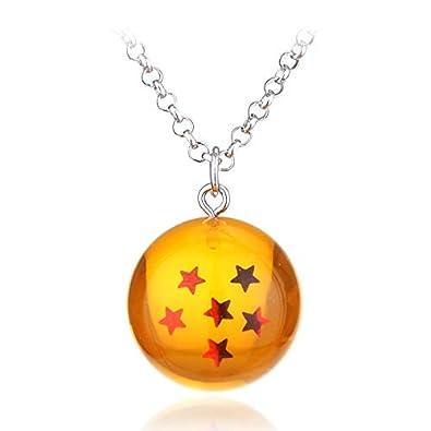 TUDUDU Anime Dragon Ball Z Collar Naranja PVC 1-7 Estrellas ...