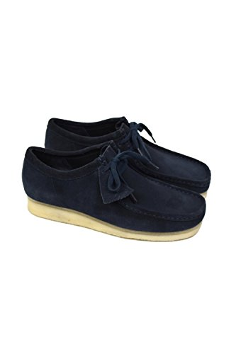 CLARKS Originals Mens Navy Wallabee Suede Shoes-UK (Clarks Wallabee Oxford)