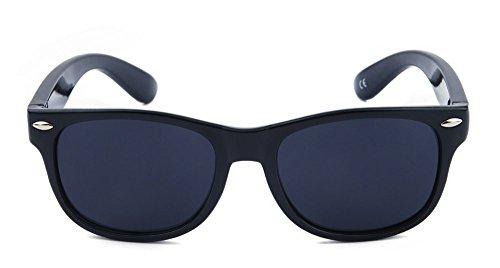 Momma'sJoy Flexible Polarized Kids Sunglasses for Boys Girls Children Age 1-10 Yr (Black-Black)