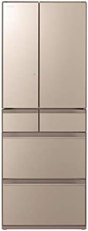 日立 567L 6ドアノンフロン冷蔵庫 ぴったりセレクト KXタイプ ファインシャンパン R-KX57NXN