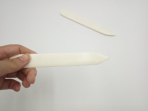 Bone Folder for Paper Leathercrafts Handmade DIY Leather Shaping Creaser (2pc, As show)