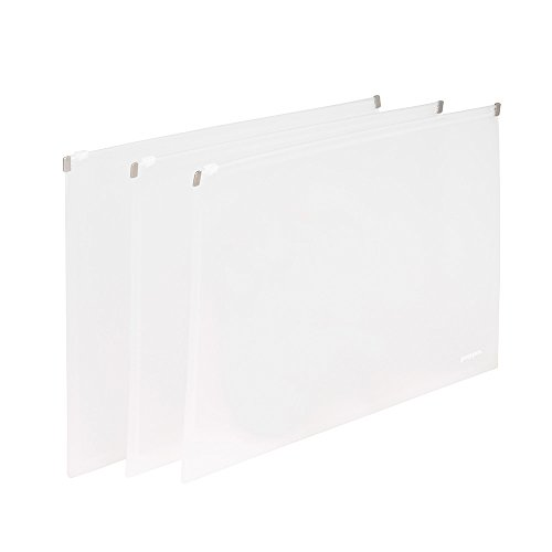 Poppin Zip Folios, Clear, Set Of 3 ()