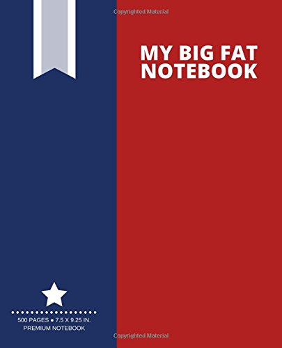 My Big Fat Notebook (500 Pages): Firebrick Red, Extra Large Notebook, Journal, Diary (7.5 x 9.25 in.) (Creative Collection)