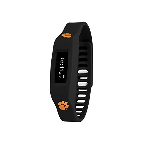 (Nuband NCAA Clemson Tigers Activity & Sleep Tracking Band, Black, Adjustable)