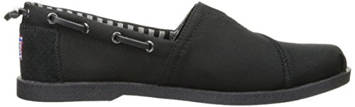 Skechers Women's Chill Luxe-Fancy Me Boat Shoe, Brown, 7 B(M) US Black/Black/White