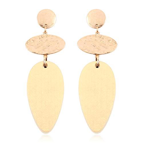 Bohemian Geometric Natural Wood Statement Earrings - Ethnic Wooden Bead Hoops, Diamond Drops, Filigree Leaf, Teardrop, Moroccan Dangles (Oval Dangle - Ivory) - Ivory Oval Beads